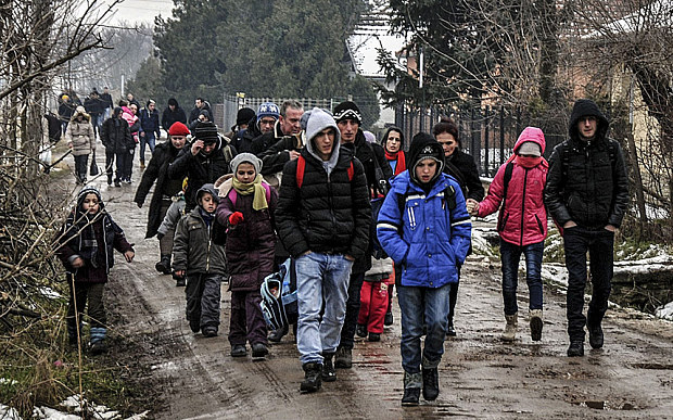 The other exodus - Kosovar heading north - February Getty
