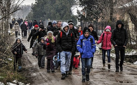 The other exodus - Kosovar heading north - February Getty