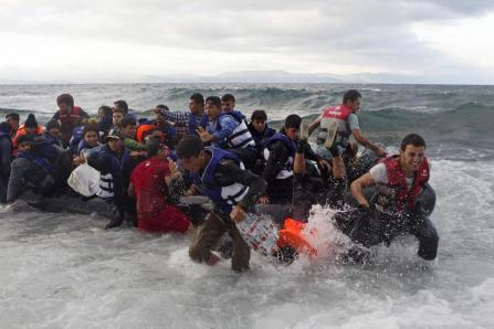 To Lesbos  oct 2 2015 - Reuters